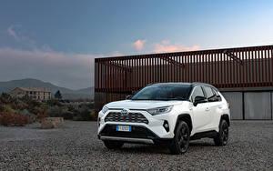 Фото Тойота Гибридный автомобиль Внедорожник Белый Металлик 2019 RAV4 Hybrid Style Worldwide Авто