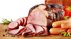 Фото Мясные продукты Ветчина Колбаса Сосиска Перец чёрный Продукты питания