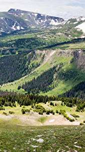 Картинки Штаты Парки Горы Леса Пейзаж Rocky mountain national park