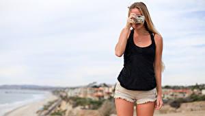 Фотография Шорты Ноги Фотокамера Фотограф Красивые Девушки