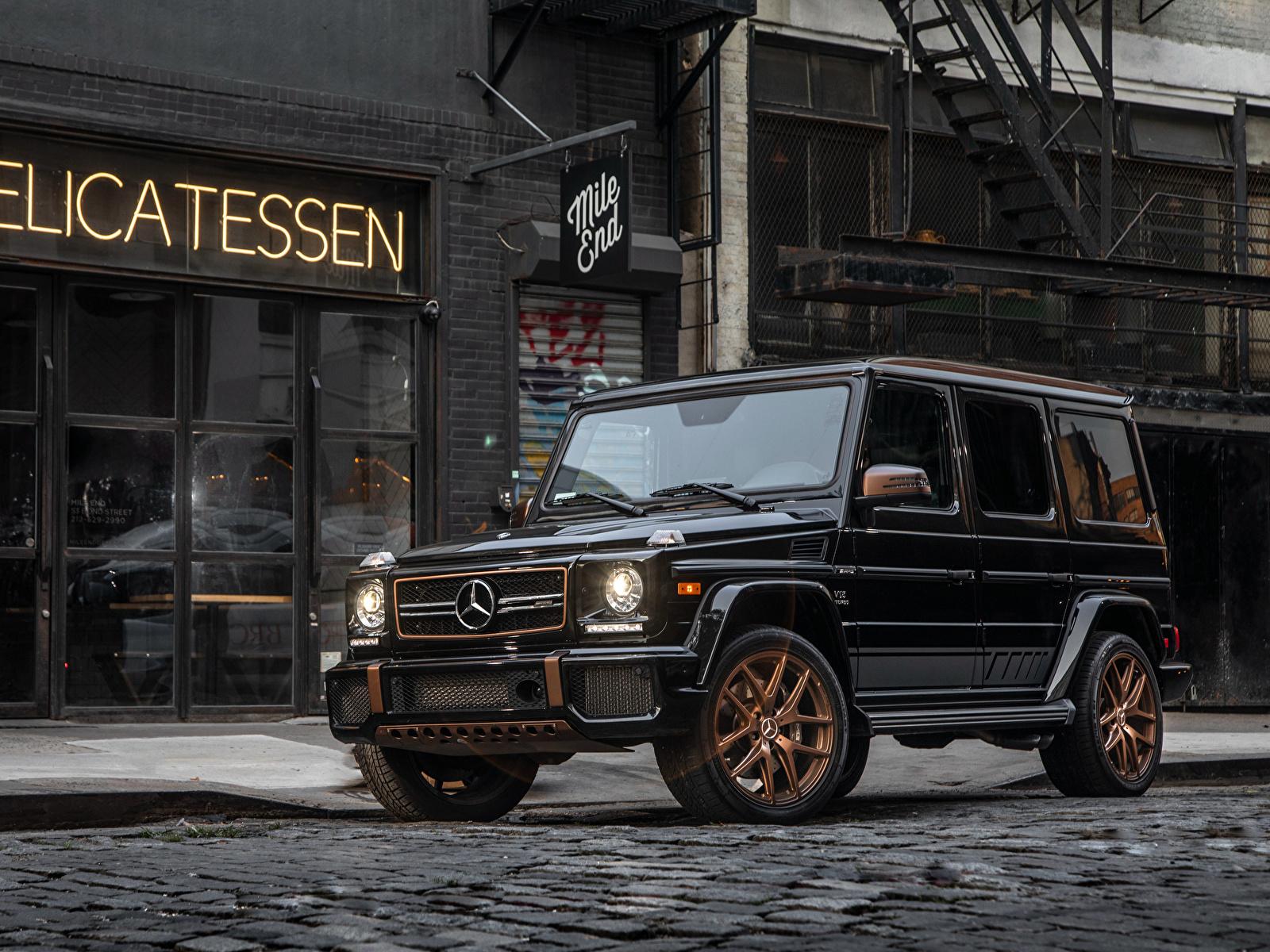 Фото Мерседес бенц G-класс 2018 G 65  Final Edition Черный Авто 1600x1200 Mercedes-Benz Гелентваген черных черные черная Машины Автомобили