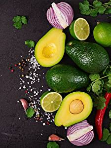 Фотографии Авокадо Лайм Пища
