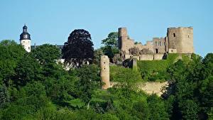 Фото Германия Замки Крепость Развалины Frauenstein, Saxony, Eastern Ore Mountains