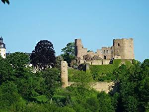 Фото Германия Замки Крепость Развалины Frauenstein, Saxony, Eastern Ore Mountains Города