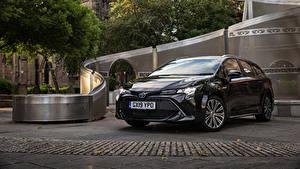 Фотографии Toyota Черные Металлик 2019 Corolla Touring Sports Hybrid Автомобили