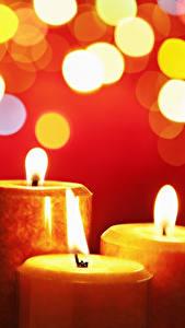 Обои Свечи Пламя Втроем