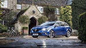 Фотографии Renault Металлик Синие 2016 Megane Estate GT Авто