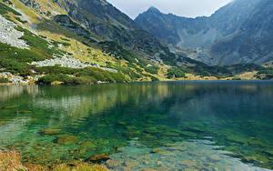 Картинка Словакия Горы Озеро Tatras
