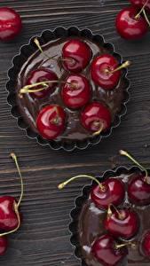 Фото Вишня Шоколад Десерт Маффин