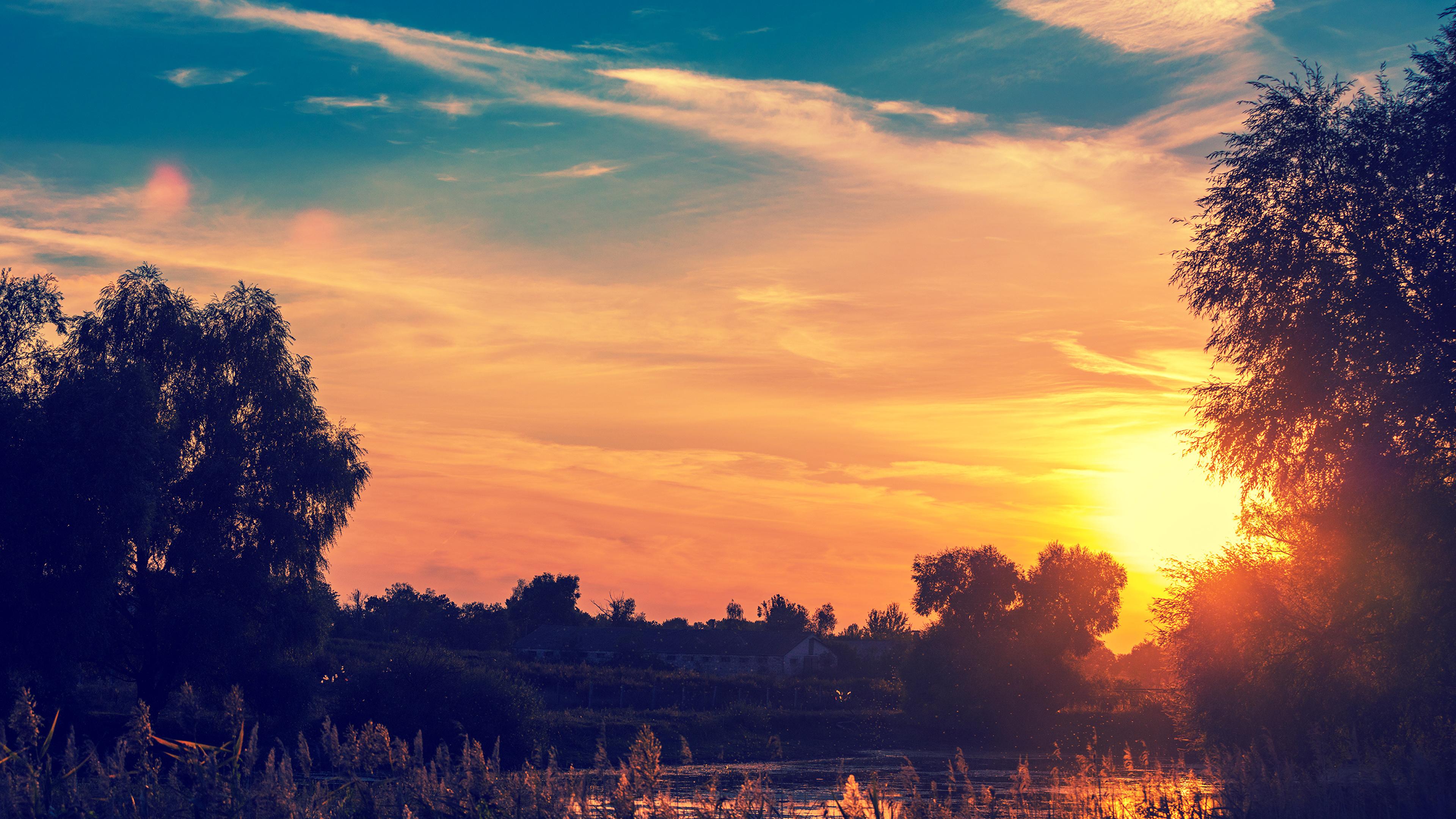 речка закат небо the river sunset sky в хорошем качестве