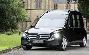 Обои Мерседес бенц Черный Металлик 2017-19 Coleman Milne Mercedes-Benz E-Klasse Hearse