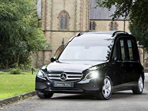 Обои Мерседес бенц Черный Металлик 2017-19 Coleman Milne Mercedes-Benz E-Klasse Hearse Авто