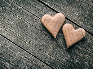 Фотография День святого Валентина Деревянный Сердце Два