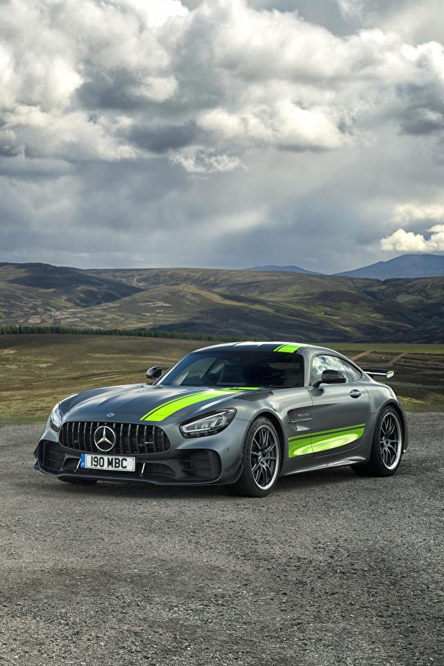 Фотография Тюнинг Mercedes-Benz 2019 AMG GT R PRO серая Автомобили 640x960 для мобильного телефона Стайлинг Мерседес бенц Серый серые авто машины машина автомобиль