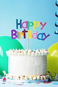 Обои Праздники Торты Свечи День рождения Английский