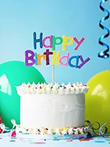 Обои Праздники Торты Свечи День рождения Инглийские Продукты питания