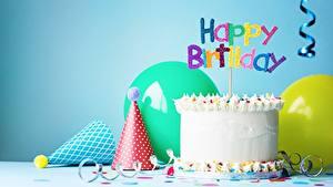 Обои Праздники Торты Свечи День рождения Английский Пища