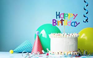 Обои Праздники Торты Свечи День рождения Инглийские