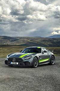 Фотография Mercedes-Benz Тюнинг Серая 2019 AMG GT R PRO Автомобили