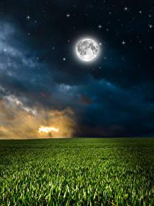 обои ночные облака