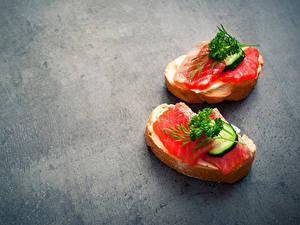 Картинка Бутерброды Рыба Хлеб Овощи 2