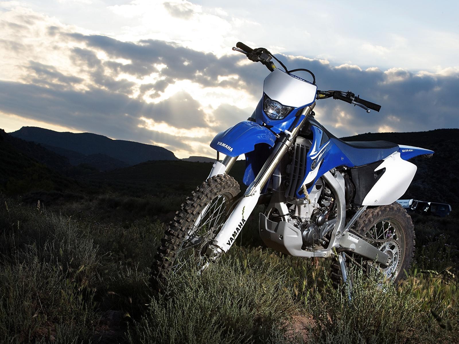 Картинки Ямаха 2007-10 WR450F мотоцикл 1600x1200 Yamaha Мотоциклы