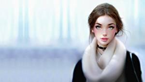 Картинки Красивые Шатенки Фэнтези Девушки
