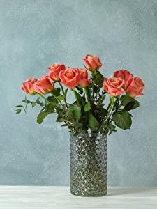 Картинки Роза Букеты Вазы Шаблон поздравительной открытки Цветы
