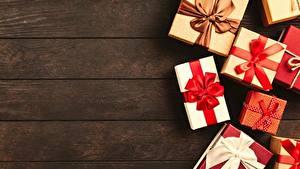 Картинки Рождество Подарки Бантик Доски
