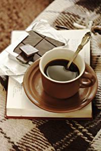 Фотография Кофе Шоколад Чашка Пища