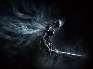 Обои Воин Dark Souls Меч Броне 3 Игры Фэнтези