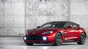 Картинки Aston Martin Красные Металлик 2018-19 Vanquish Zagato Shooting Brake Zagato машина
