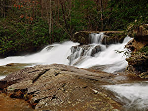 Картинка США Парки Водопады Ohiopyle State Park Pennsylvania