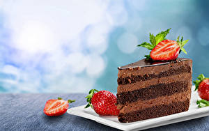 Картинка Пирожное Клубника Шоколад