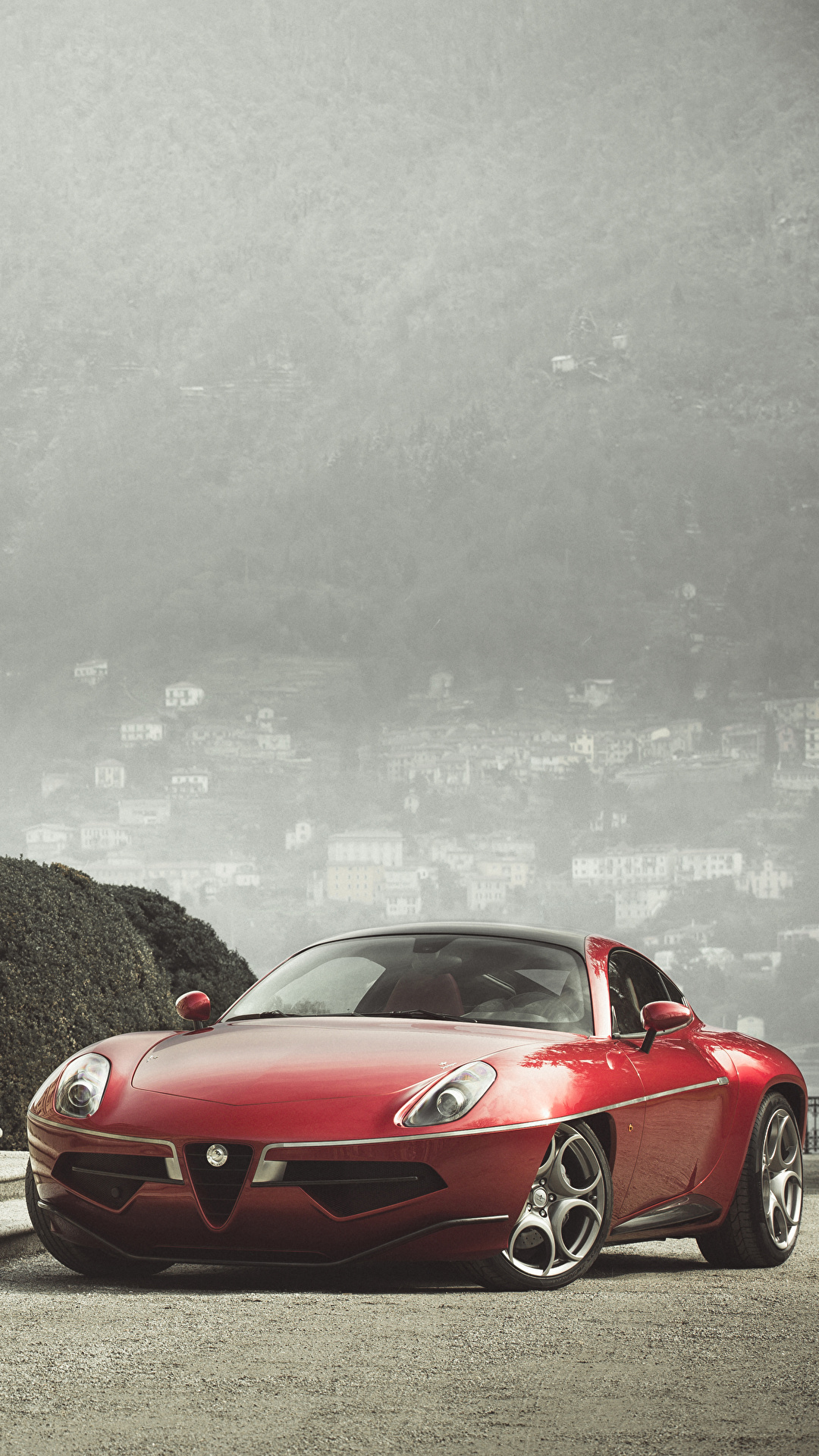 Фотография Альфа ромео 2013 Disco Volante Touring Красный Лестница Металлик Автомобили 1080x1920 Alfa Romeo Авто Машины