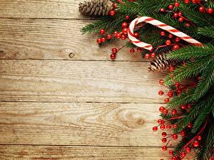 Обои Ягоды Новый год Доски Ветки Шаблон поздравительной открытки