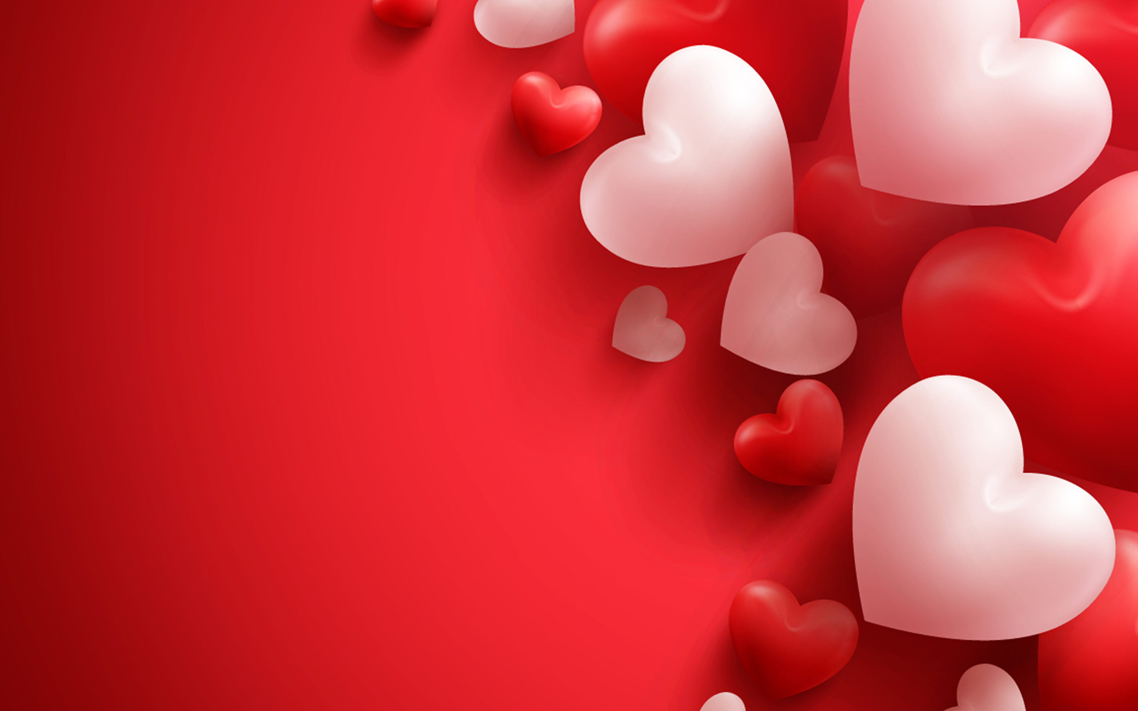 фото день всех влюблённых сердце красном фоне 3840x2400