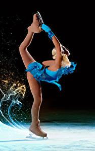 Фотография Коньки Ноги Танцует Униформа Девушки Спорт