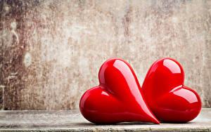 Фотография День всех влюблённых Сердечко 2 Красный