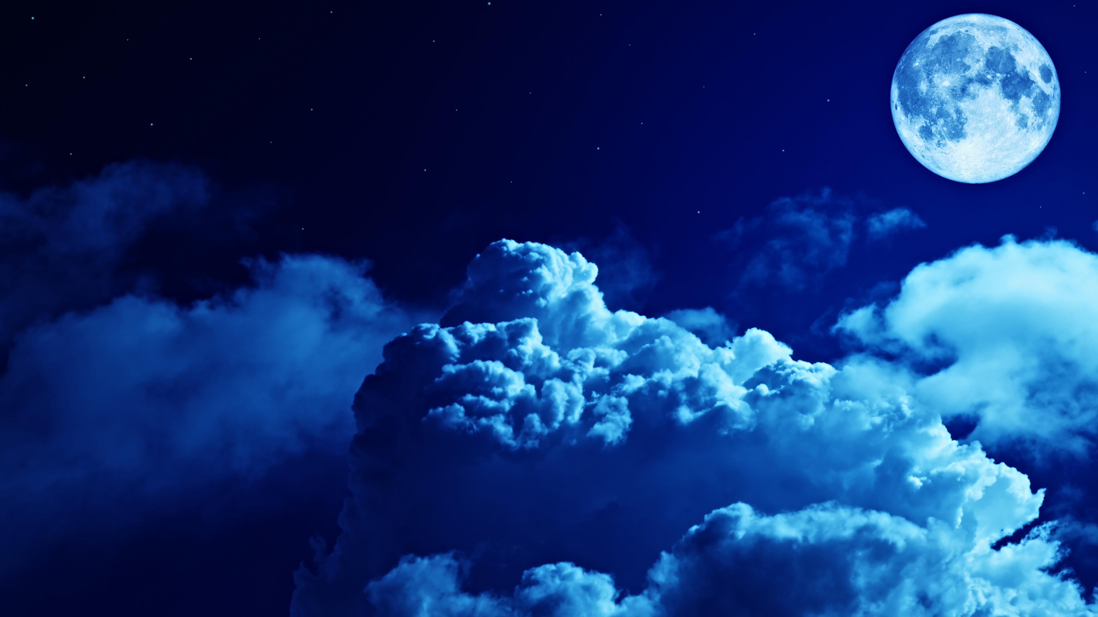 Небо луна облака без смс