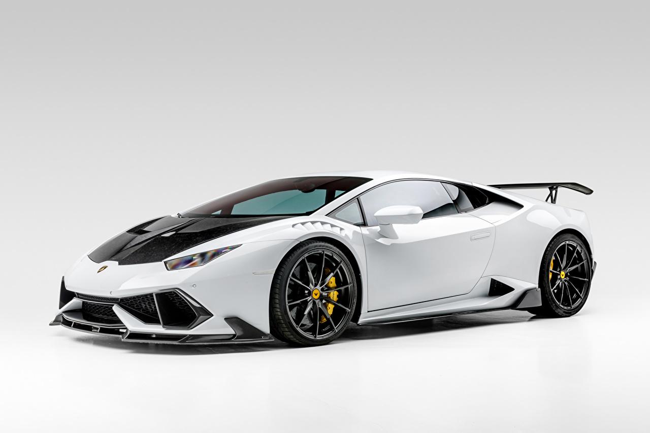 Обои для рабочего стола Lamborghini Huracan Mondiale Edizione 2020 белая авто Сбоку Ламборгини Белый белые белых машина машины Автомобили автомобиль
