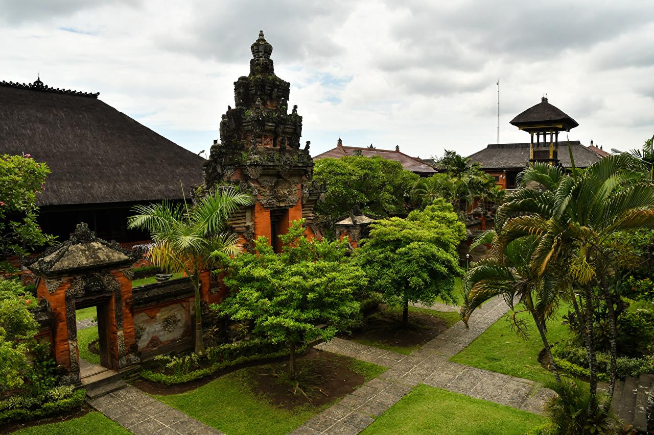 Фотографии Индонезия Bali Храмы город Деревья дизайна храм дерева дерево Города деревьев Дизайн