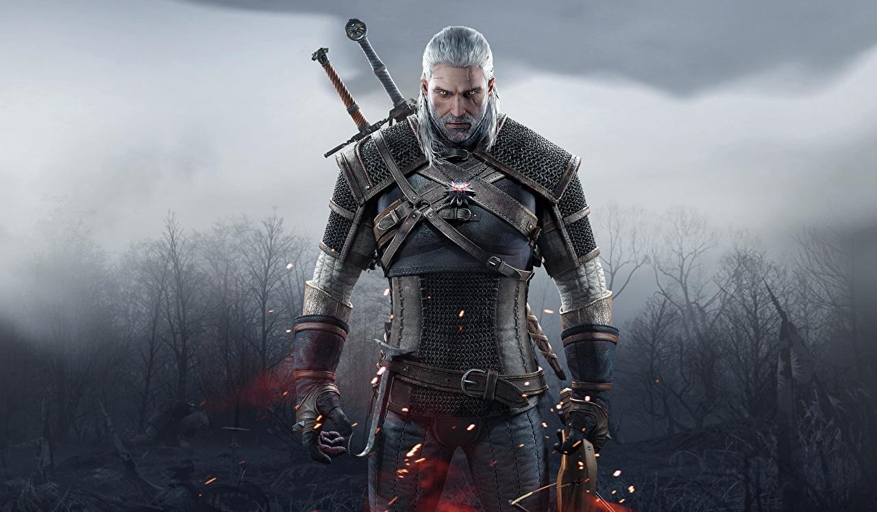 The Witcher 3: Wild Hunt Геральт из Ривии Воители Мужчины Мечи Доспехи 11 глаз, Фантастика, воины, Ведьмак 3: Дикая Охота, броня Игры Фэнтези