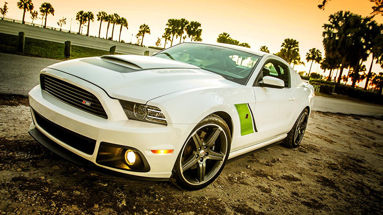 Картинка Ford Roush Stage 3, Mustang белая машина Форд Белый белые белых авто машины Автомобили автомобиль