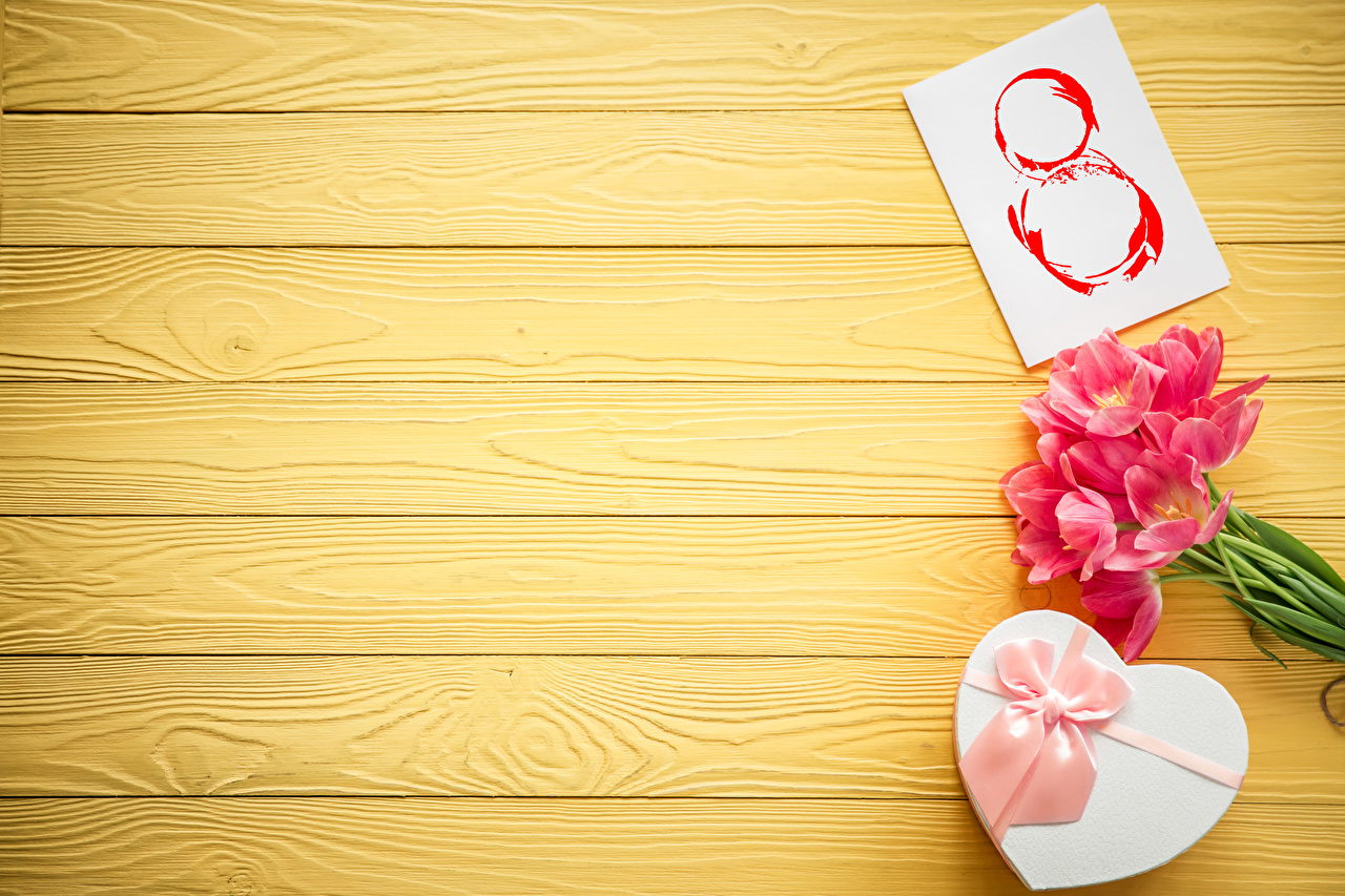 Фотография Международный женский день тюльпан цветок подарков бантики Праздники Доски 8 марта Тюльпаны Цветы Подарки подарок бант Бантик