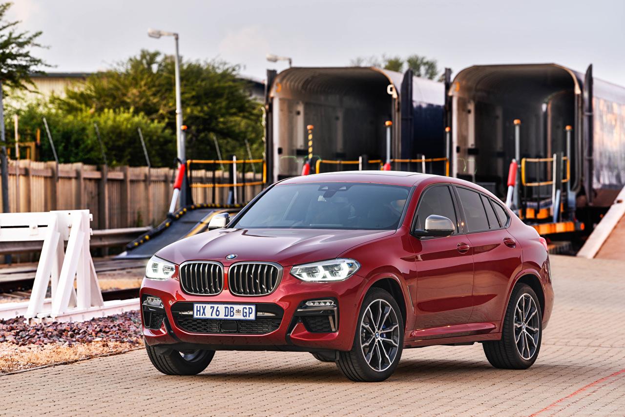 Фото BMW Кроссовер 2019 X4 M40d Бордовый Автомобили БМВ CUV бордовая бордовые темно красный авто машины машина автомобиль