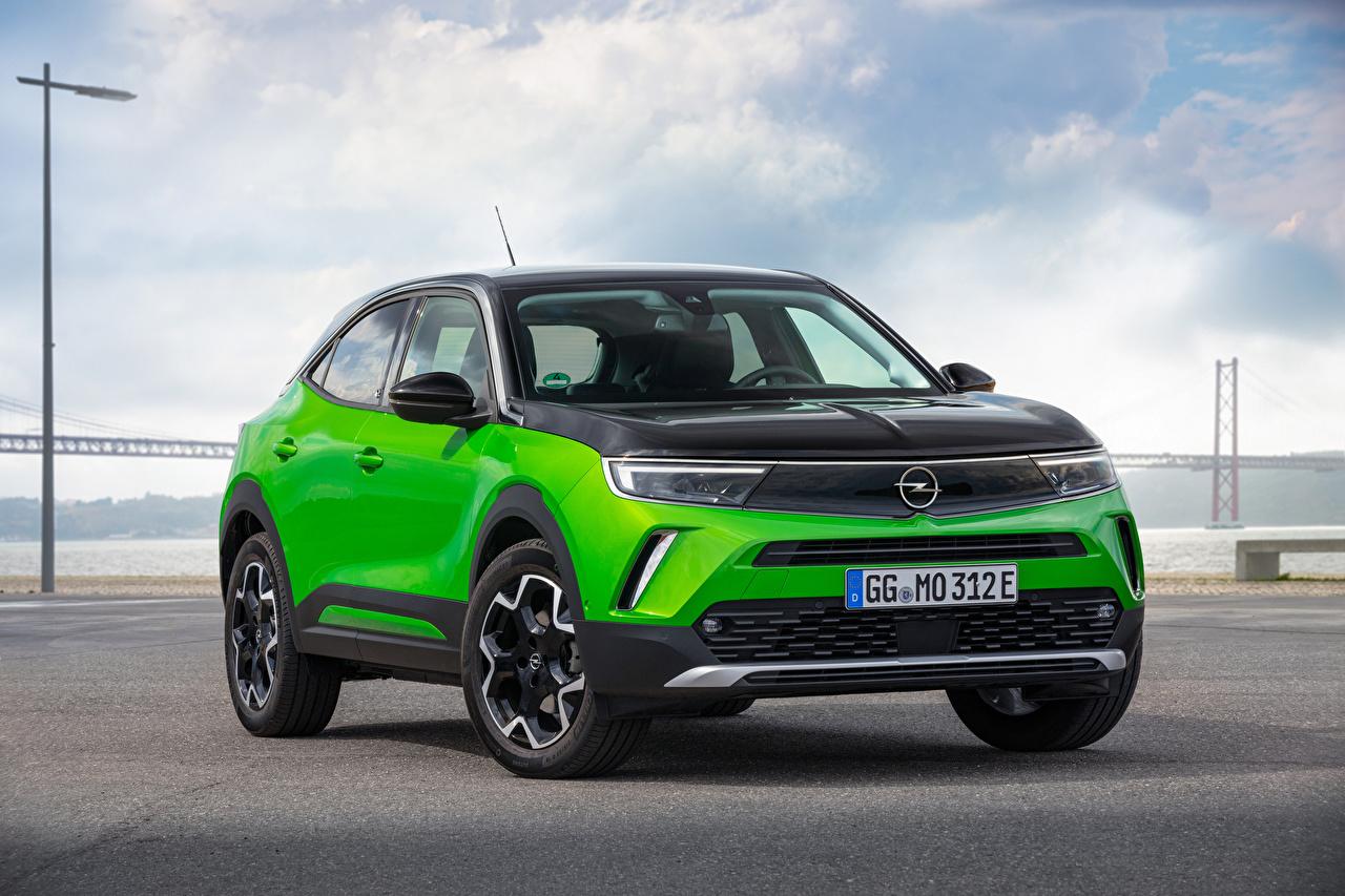 Картинка Opel Кроссовер Mokka-e, 2020 машина Металлик Опель CUV авто машины Автомобили автомобиль