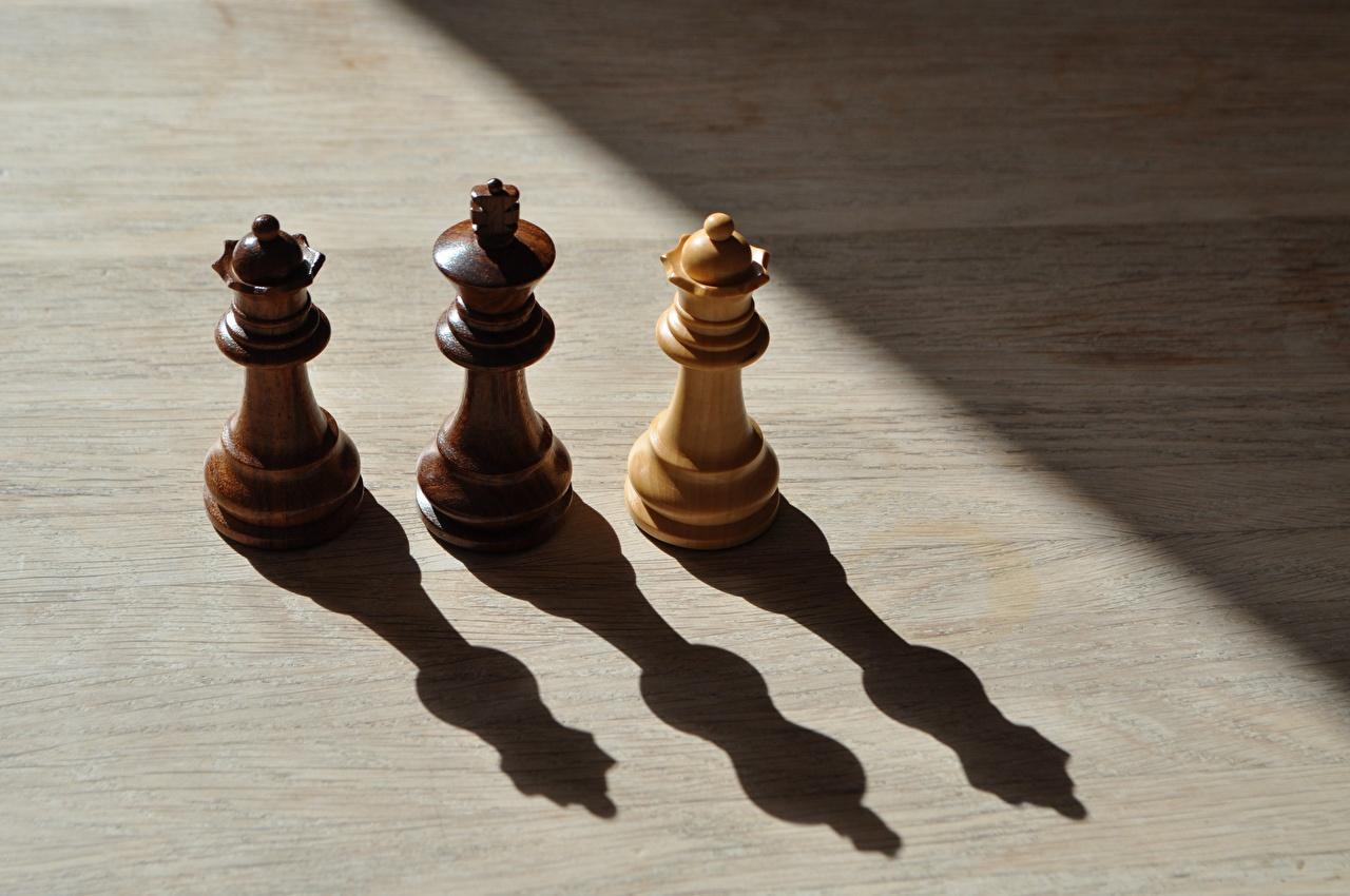 Картинка Тень Шахматы три из дерева Трое 3 втроем Деревянный