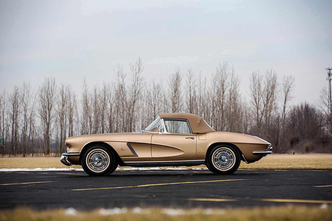 Обои Шевроле 1962 Corvette GM Styling Show Car старинные Сбоку Автомобили Chevrolet Ретро Винтаж Авто Машины