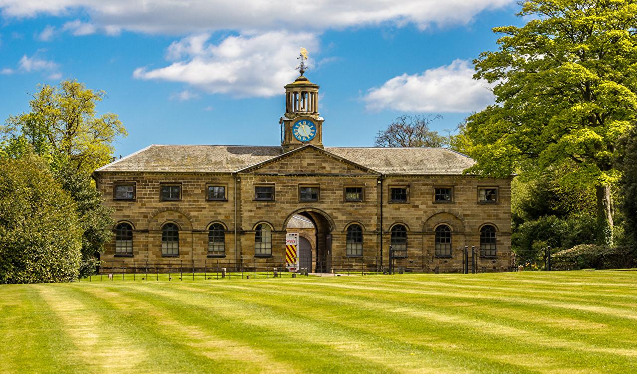 Фотографии Англия Ormesby Hall  North Yorkshire Газон Дома Города Здания